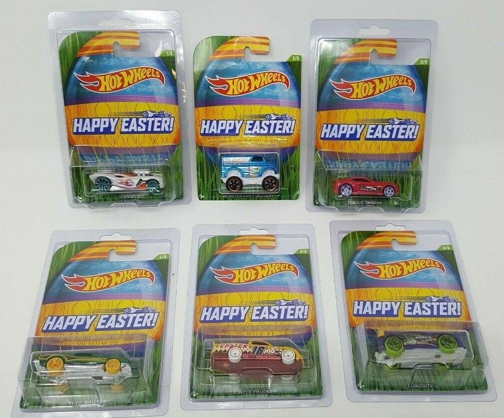 heta hjul 2016 lycklig Easter Walmkonst Exclusive Set of 6 bils w   Prödective Cases