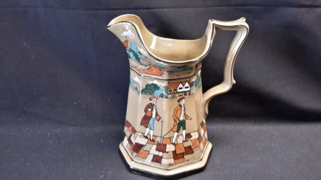 Buffalo Pottery Deldare Ware Underglaze 1908 - Ye Olden Days - Signed 9