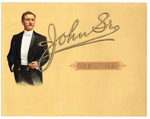 DREW IRISH AMERICAN ACTOR BARRYMORE CIGAR BOX LABEL VINTAGE C1910 JOHN SR