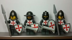 Lego-Custom-CASTLE-TEMPLAR-RED-CROSS-KNIGHTS-Minifigs-NEW-made-from-Stickers