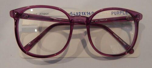 Vintage Mainstreet Jenny Purple 54//21 P3 Round Eyeglass Frame NOS #291