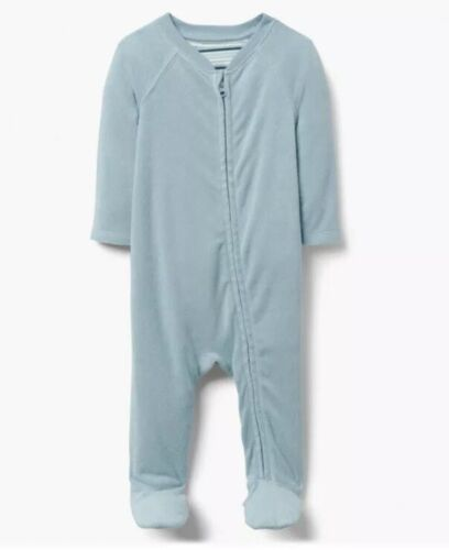 NWT Gymboree Brand New Baby Boy Blue Terry Sleeper One-Piece 0-3 M