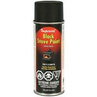 Imperial Kk0197 Lot Of (3) Cans High Temp 12oz Black Wood Stove Spray Paint