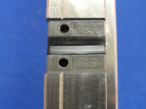 """22-7//8/"""" NSK SS150580ALK2K01P61 Rail and Two NSK S15 Bearings    M25"""