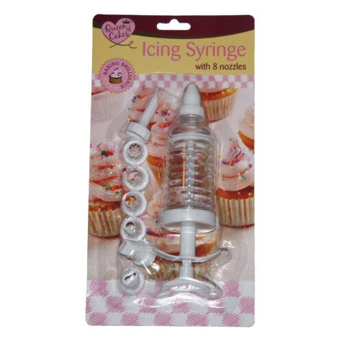 Icing Syringe Cake Decorating Piping With Tips 8 Set Of Nozzles Set Tool Kit