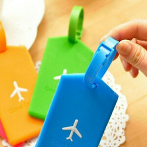 1X-Luggage-Bag-Rubber-Tag-Name-Address-ID-Label-Travel-Suitcase-Baggage-Tags-New