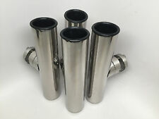 4 PCS MARINE BOAT DURABLE STAINLESS STEEL 316 CLAMP-ON ROD HOLDERS