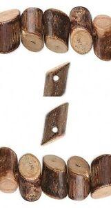 Strand-BANGHAW-WOOD-BEADS-Diagonal-Cut-Mini-Wooden-Logs-Natural-Light-weight
