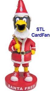 St Louis Cardinals Christmas in July Santa Fredbird Bobblehead SGA 7/30 New