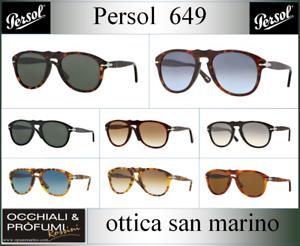 OCCHIALI-DA-SOLE-PERSOL-MODELLO-649-COLORI-DIVERSI-AGGIORNATO-2018