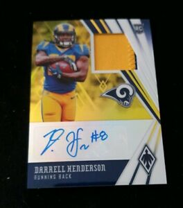 2019-Phoenix-Darrell-Henderson-GOLD-RPA-75-LOS-ANGELES-CHARGERS-RC-ROOKIE-AUTO