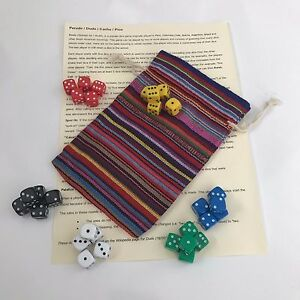 Perudo-Dudo-Pico-Dice-Game-Liars-Dice-Set-of-30-Dice-in-a-Stripey-Bag-D156