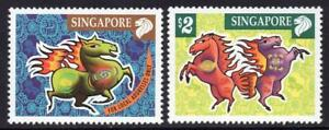Singapore-2002-Lunar-New-Year-of-Horse-stamp-set-2v-MNH