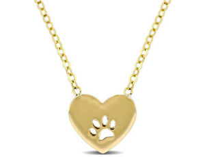 Amour-Love-Heart-Animal-Paw-Necklace-in-10k-Yellow-Gold