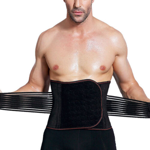 Mens Sport Corset Body Shaper Waist Trainer Men Gym Girdle Brace Belt Fitness
