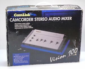 Camlink-Camcorder-Stereo-Audio-Mixer-Vision-100-With-Power-Adapter-Bundle