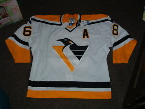 pretty nice 3b897 9a824 Details about JAROMIR JAGR PITTSBURGH PENGUINS AUTHENTIC STARTER HOME  HOCKEY JERSEY sz 54r NWT