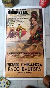 1973 Cartel Plaza de Toros Monumental de Barcelona Peralta Alvaro Domecq Corrida
