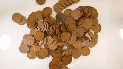 Lincoln Wheat Cent Roll Pennies 1909-1958 PDS Mints 50 Coins UNSEARCHED STEEL