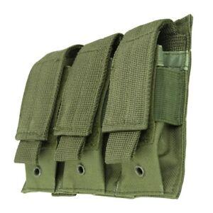 MOLLE-3-Pocket-GREEN-Magazine-Pouch-fits-H-amp-k-9mm-40-USP-P2000-VP9-VP40-Pistols