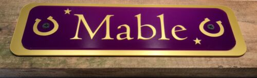 HORSE PONY STABLE PLAQUE NAME PLATES PERSONALISED FOR HORSES-EQUESTRIAN-Plaques1