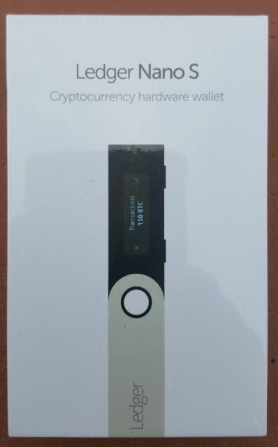 Ledger Nano S Hardware Wallet  with Bonus magnetic cable FACTORY SEALED