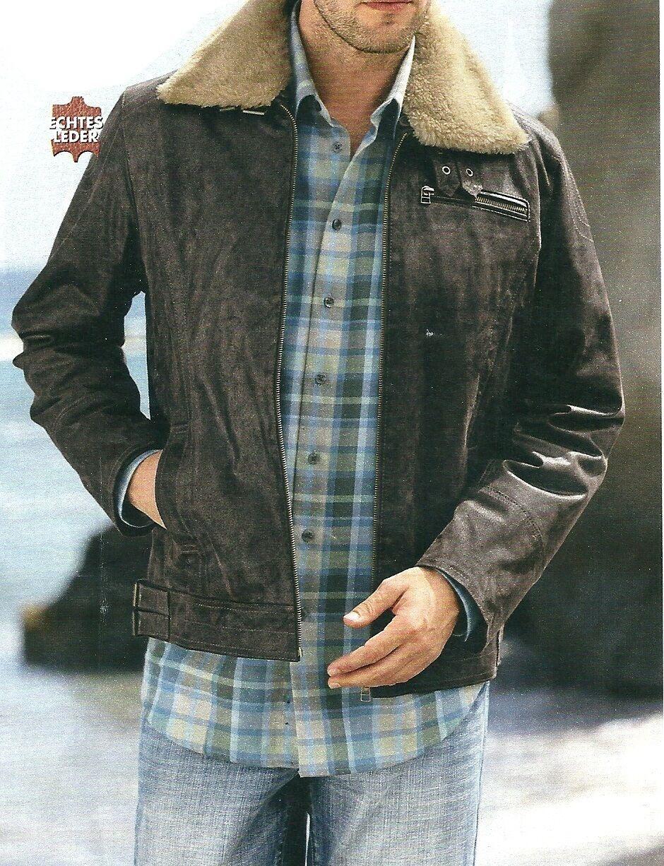 Chaqueta de cuero  señores chaqueta chaqueta webpelz marrón oscuro talla 70  artículos de promoción