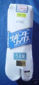 5-P-de-Chs-Tabi-5-P-of-Tabi-Socks-034-Sport-034-25-27-cm-Eur-39-42