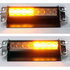 12V Emergency Amber Only LED Flashing Warning Recovery Light Bar - Many Uses