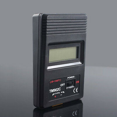 Digital LCD Thermometer Thermodetector Meter +TM-902C K Type Thermocouple Probe