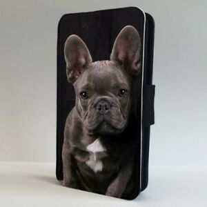 French Bulldog Grey Puppy Dog Flip Phone Case Cover For Iphone