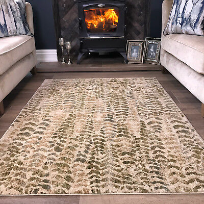 Beige moss green coastal living room rug small large soft - Small area rugs for living room ...