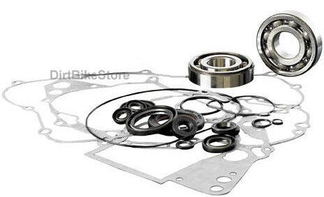 Yamaha DT 400 MX (1977-1979) Engine Rebuild Kit Main Bearings Gasket Set & Seals