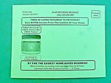 Postcard Mailing Business Opportunity Extra Income Work From Home 17 Year Co