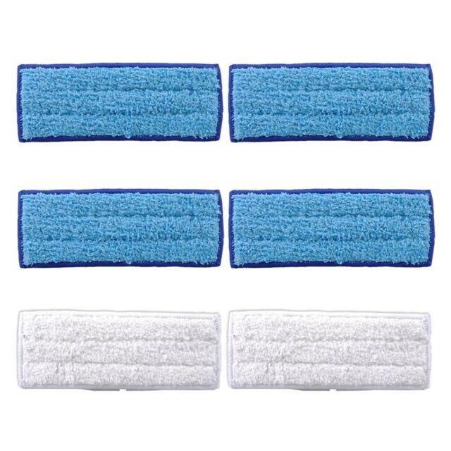6 Pack Washable Mopping Pads for IRobot Braava Jet 240 241 Included ,4 Pcs  W6M5