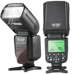 K-amp-F-Concept-E-TTL-Aufsteckblitz-Speedlite-Master-Slave-fuer-Canon-mit-HSS-1-8000s