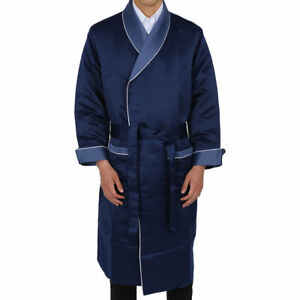 Mens-Smoking-Jacket-Luxury-Blue-Robe-de-chambre-Dinner-Host-Gown-Coat-Jacket