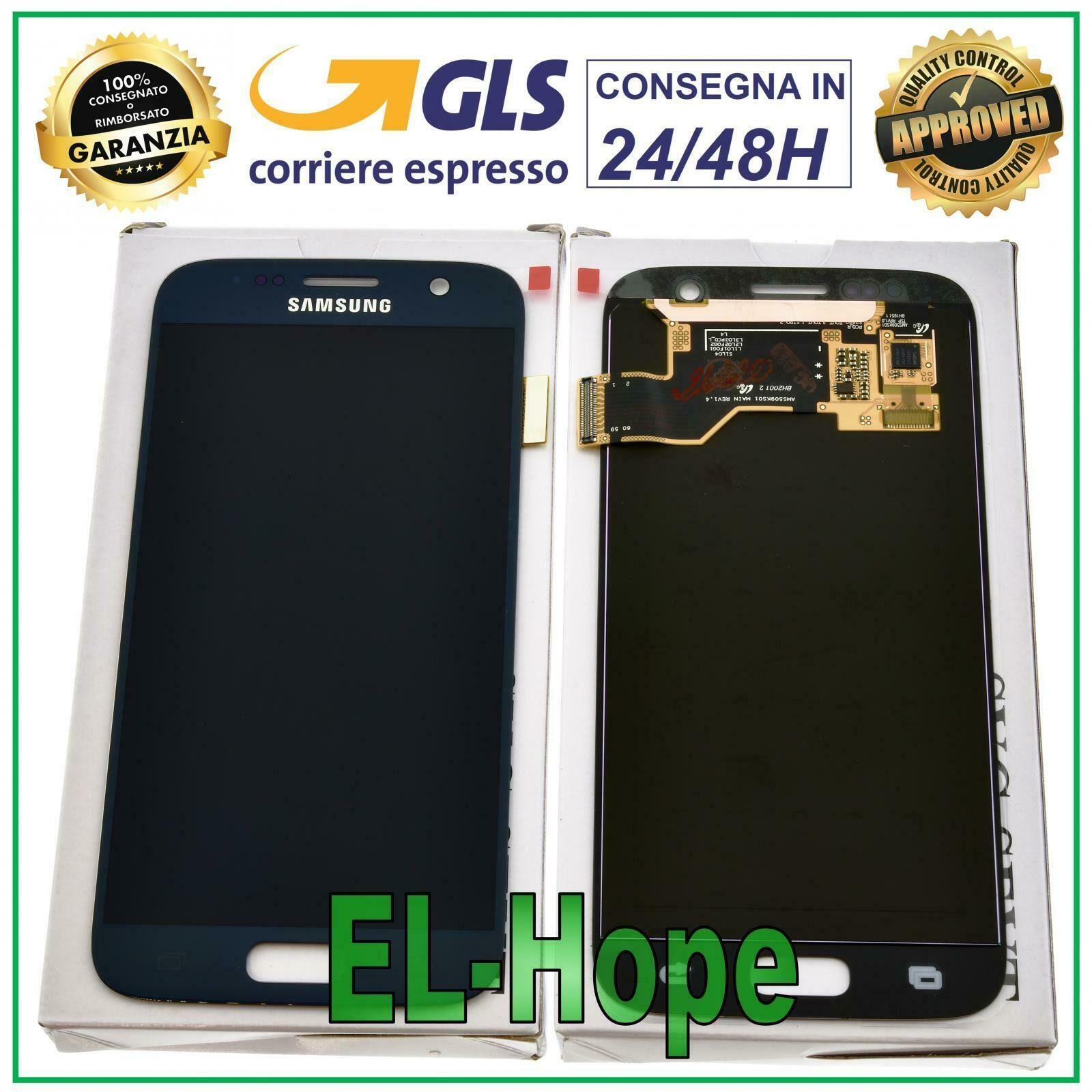 Samsung Galaxy: DISPLAY LCD ORIGINALE SAMSUNG GALAXY S7 SM-G930F 2016 TOUCH SCREEN VETRO NERO