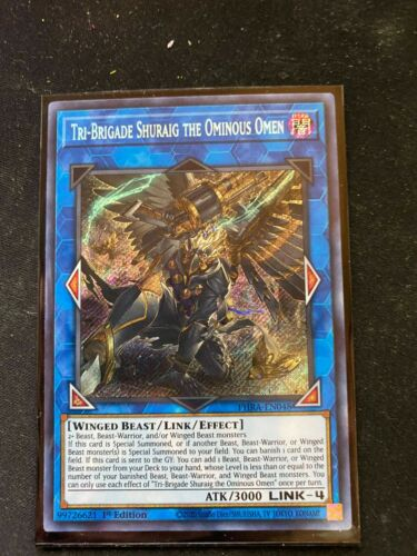 Tri-Brigade Shuraig the Ominous Omen PHRA-EN048-1st Edition Secret Rare NM