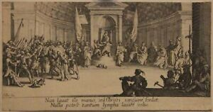 CALLOT-JACQUES-XVII-FRANCAIS-La-condamnation-a-mort-1ER-ETAT-RARE