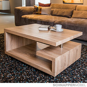 couchtisch tisch wohnzimmer sonoma eiche hell rollbar 90x60x43cm ebay. Black Bedroom Furniture Sets. Home Design Ideas