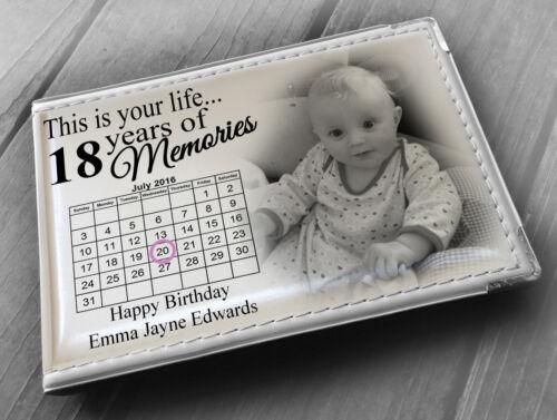 """Personalised álbum de fotos libro de memoria 6x4/"""" X 18th 36 fotos regalo de cumpleaños"""