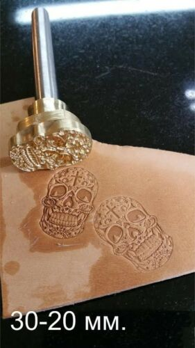 Skull leather crafting stamp tool crafts brass saddle making stamps #A6 Mexican