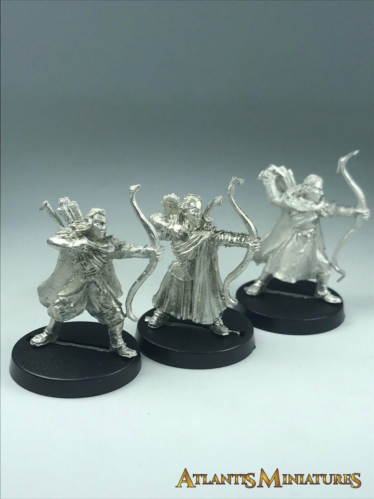 Metal Lothorien Bowmen X3 - OOP - LOTR   Warhammer   Lord of the Rings X492