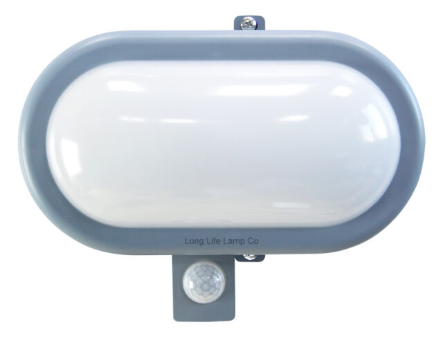 PIR Movement Sensor 10W LED BULKHEAD Light Outdoor Security Wall Light 6000K