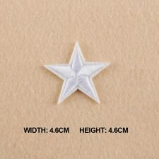 """3/"""" Embroidery Iron On Silver Hollow Star Applique Patch"""