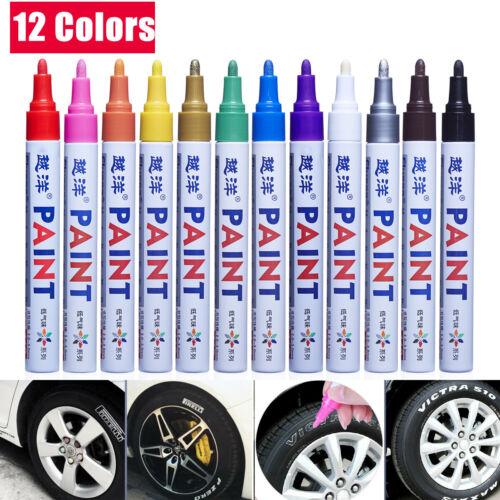 12Pcs Waterproof Permanent Paint Marker Pen Car Tyre Tire Tread Rubber Metal US