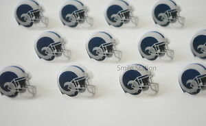 12 NFL Los Angeles Rams Football Cupcake Rings Topper Birthday Party