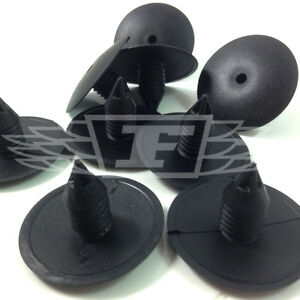 FIR TREE BUTTONS SPRUCE DOOR ROOF BUMPER PUSH TYPE CLIPS 10.5mm BLACK (0640)