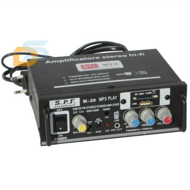 AMPLIFICATORE STEREO HI-FI 2 O 4 CANALI RADIO FM LETTORE MP3 USB EQUALIZZATORE